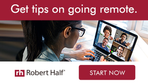 Robert Half - Tips on going remote